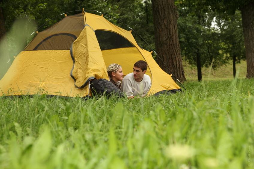 Camping med familien